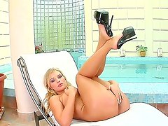 Sweet blonde dolly Nicol is feeling lonely and horny, thats why she is