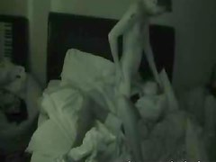 Night vision amateur sex on tape