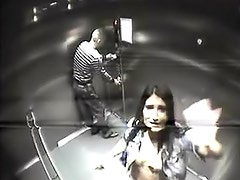 Couple fucks on security cam in elevator