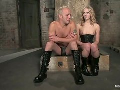 Sarah Jane Ceylon Having Fun with a Strapped Guy's Cock and Ass