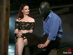 Masked Guy Gets Strapon Fucked in BDSM session by Claire Adams