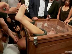 Adriana Chechik gets humiliated and fucked by a group of people