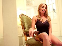 Blonde with Big Natural Tits Holly Gibbons Sexy Erotic Video