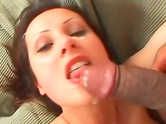 Cum addicted spicy pale brunette gives a solid deepthroat for sperm