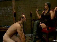 Blake gets his ass unforgettably fucked by brunette bombshell Isis Love