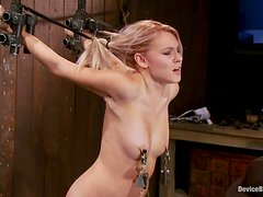 Pain loving Katie Summers gets what she wants in BDSM vid