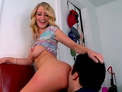 Blonde chick next door Casi James gets her sweet fresh cunt fucked very hard by fellow moaning