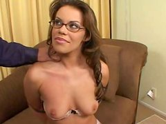 Pretty submissive whore Gia gets her ugly droopy tits jammed by spoiled man