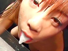 Sweet japanese loves to swallow