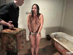 Horny Julie Night gets humiliated and face fucked
