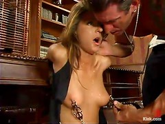 Lee Stone hides his cock in Veronica Stone's pussy in amazing BDSM vid