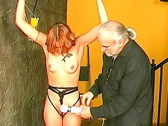Young gal gets punished in BDSM