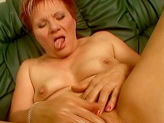 Dildo addicted ulgy oldie Magdolna gets her mature wet cunt fucked mish