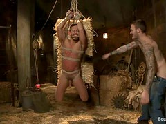 Fetish sex in the barn with Bryan Cole and Christian Wilde
