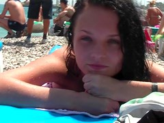 Hot babes in bikini go down in compilation