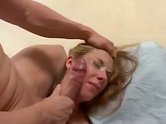 Waiting for gooey cum slutty pale blondie Crystal Ray gives a deepthroat