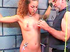 Young babe gets punished in BDSM