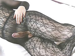 My fun in pantyhose with my dildo v9