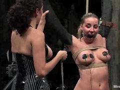 Delilah Strong moans loudly while being tormented in public
