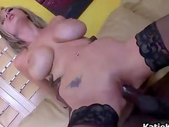Blonde chick with big tits gets a huge