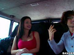 Gorgeous Aletta Ocean gets fucked rough in a car