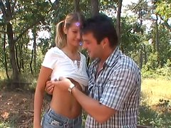 Pretty girl Avril is sucking meaty sausage in POV