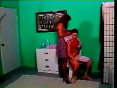Slutty mature woman in stockings gets rammed in the ass
