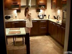 Hot Kitchen Sex With My Wife In Front Of Camera