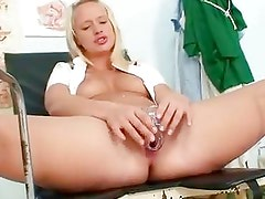 Supear Sexy Blond Nurse Pulling...