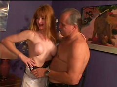 Busty Redhead Amateur in Stockings Getting a Hardcore Pounding