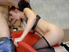 Lamia Dark is a red-haired passionate babe that loves to