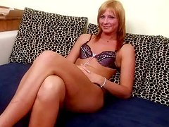 Light haired spoiled nympho Gabriella plays with a sex toy on cam with delight