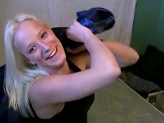 Playful girlfrined Jewel soaping her titties in the bathroom