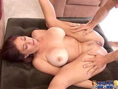 Busty bombshell Lucky Benton gets amazingly fucked by two men