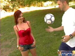 Busty Felony Foreplay gets rammed by two dudes as she likes