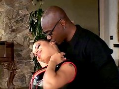 Big Breasted Slut Alexis Silver in Latex Outfit Fucked by Big Black Dick
