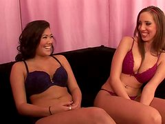 Two gorgeous lesbians Kelly Divine and London Keyes teases you with their butts
