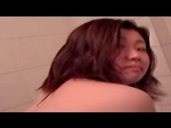 Asian with tight young ass takes a bath