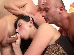 Bisexual perverted with two boys and one chick