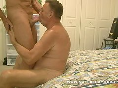 Muscular Daddy Bareback his Chubby Friend