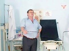 Cute girl gets her tight pussy examed