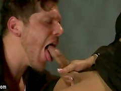Bigtitty shemale beauty fucks muscled guy