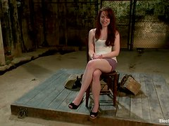 Toying AnnaBelle Lee's Pink Shaved Pussy in Lesbian BDSM Video