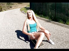 Horny blonde teen's fucked silly by a monster cock