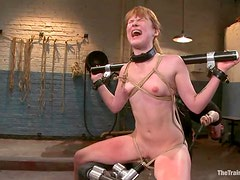 Kinky Claire Robbins gets bounded and fucked in her ass