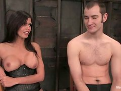Dominated Guy Gets Face Sit from Shy Love Before Pegging in BDSM Vid