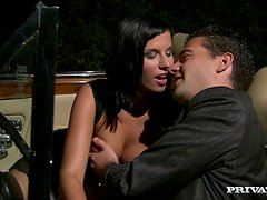 Renata Black gives head and has anal sex in cowgirl position
