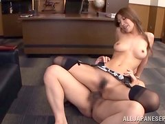 When A Japanese Boss Asks Her Secretary To Kneel, She Sucks His Cock Like A Good Geisha!