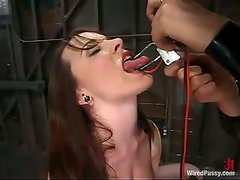 Dana Dearmond gets chained and enjoys a dildo in her cunt