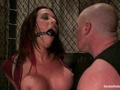 Fucking Rachel Starr's Throat and Pussy in Bondage Video
